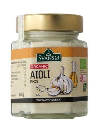 Organic Aioli Mayonnaise with Garlic, Svanso