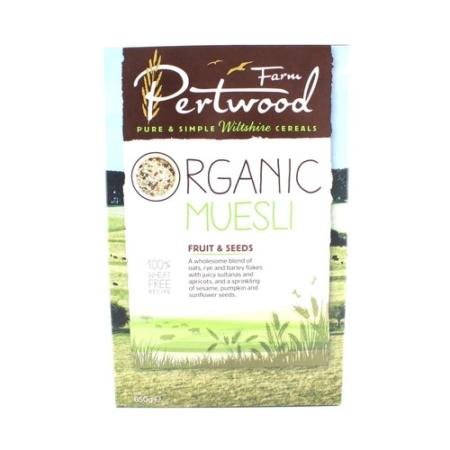 Organic Muesli Fruit and Seeds, Pertwood Farm