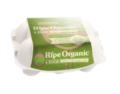 Organic Eggs, Ripe 6pc Box