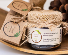 Organic Black Soap with Eucalyptus, Albashira