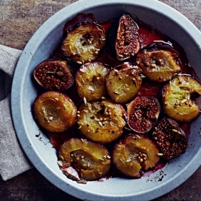Oven Baked Plums & Figs