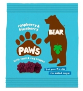 BEAR PAWS RASPBERRY AND BLUEBERRY 20G