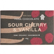 PANA CHOCOLATE ORGANIC SOUR CHERRY & VANILLA 45G