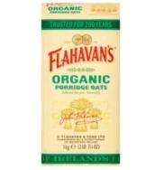 FLAHAVAN'S ORGANIC PORRIDGE OATS 1KG