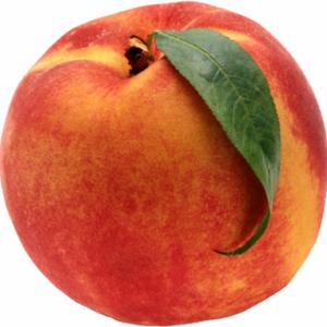 Ripe Organic Peaches