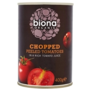 Chopped Tomatoes (Tinned), Biona