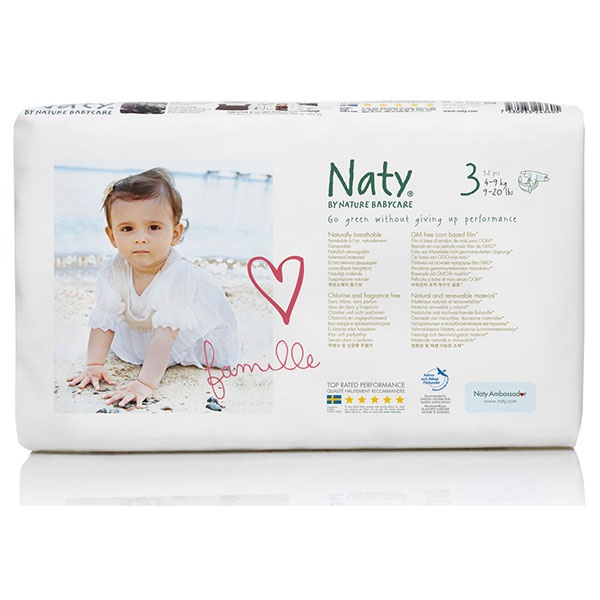 RIPE ORGANIC-NATY DIAPERS SIZE 3