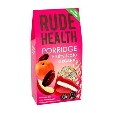 RIPE ORGANIC-RUDE HEALTH ORGANIC FRUITY DATE PORRIDGE 500G
