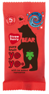 Strawberry Real Fruit Yoyo's, Bear