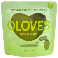 Basil & Garlic Pitted Olives, Oloves