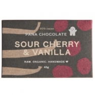 Raw Chocolate Sour Cherry & Vanilla, Pana Chocolate