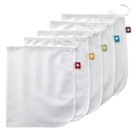 Reusable Produce Bags 5 Pack, Flip & Tumble