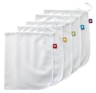 Reusable Produce Bags 5 Pack, Flip & Tumble