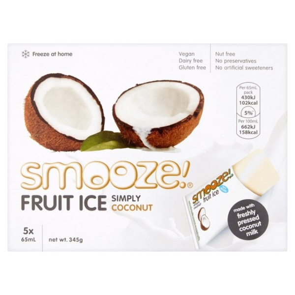 RIPE ORGANIC-SMOOZE SIMPLY COCONUT FRUIT ICE 10X65ML