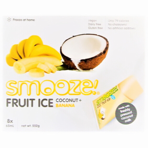 RIPE ORGANIC-SMOOZE COCONUT + BANANA FRUIT ICE 10X65ML