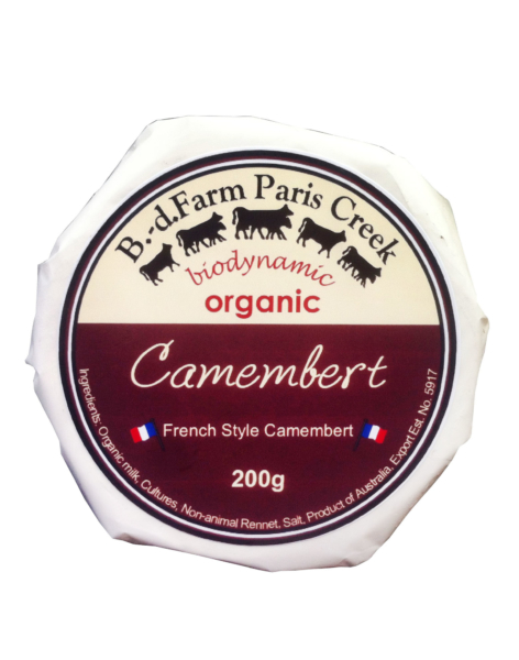 Ripe Organic – Organic Food Online - B.D. FARM PARIS CREEK ORGANIC CAMEMBERT 200G