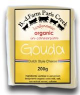 Organic Gouda Cheese, B.D. Farm Paris Creek