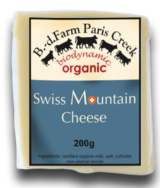 Organic Swiss Mountain Cheese - B.D. Farm Paris Creek