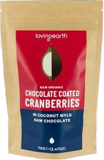RIPE ORGANIC- Loving Earth, Cranberries Mylk Chocolate Available in Dubai and abu Dhabi, UAE.