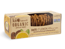 Date & Lemon Artisan Crisps - Kii Naturals