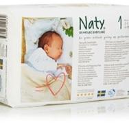 Eco Diapers, Size N Newborn, Naty