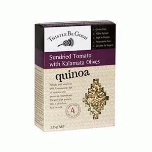 RIPE ORGANIC- Thistle Be Good, Sundried tomato & Kalamata Olive Quinoa Available in Dubai and Abu Dhabi, UAE
