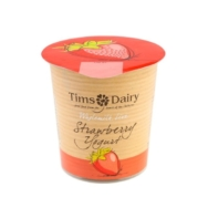 Wholemilk Live Strawberry Yoghurt, Tim's Dairy