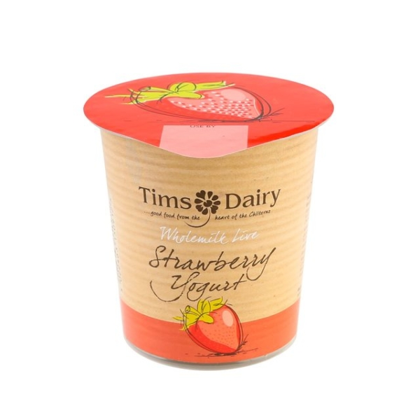 RIPE ORGANIC- Tims Dairy, Wholemilk Strawberry Yoghurt Available in Dubai and Abu Dhabi.