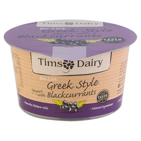 RIPE ORGANIC- Tims Dairy, Greek Style Yoghurt with Blackcurrant Available in Dubai and Abu Dhabi.