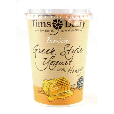 RIPE ORGANIC- Tims Dairy, Greek Style Yoghurt with Honey Available in Dubai and Abu Dhabi.