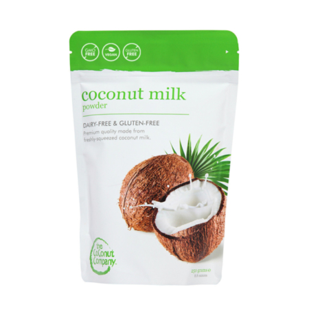 Organic Coconut Milk Powder, from the coconut company is completely vegan and non-dairy.
