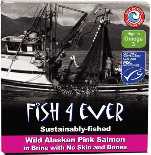 Ripe Organic Pink Salmon in Brine