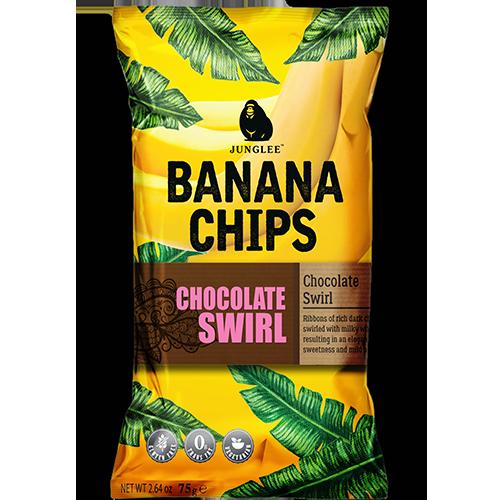 RIPE ORGANIC- Junglee Jack, Chocolate Swirl Banana Chips available in Dubai and Abu Dhabi, UAE
