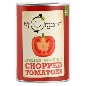 Ripe Organic Chopped Tomatoes