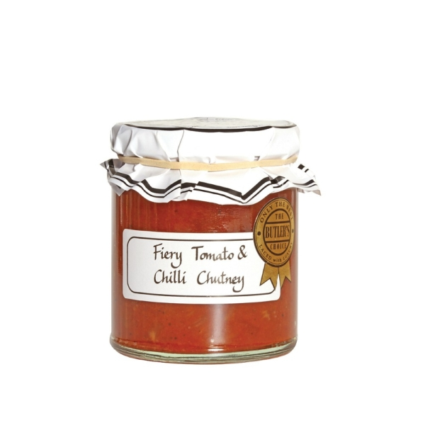 Ripe Organic Fiery Tomato and Chilli Chutney from Butler's grove available at our stores in UAE