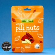 Turmeric & Ginger Pili Nuts, Raw & Wild, 22g