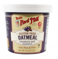 Blueberry Hazelnut Oatmeal Cup, Bob's Red Mill