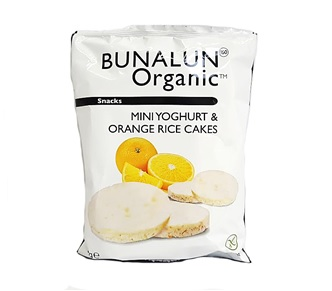 Yoghurt And Orange Mini Rice Cake Bunalun Ripe Organic