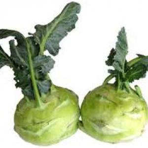 Ripe Organic Kholrabi