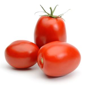Ripe Organic Plum tomatoes