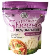 Dairy Free Mozzarella Style Grated Cheese, Sheese