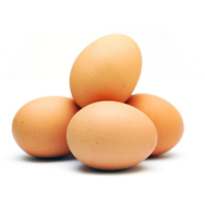 Organic Local Brown Eggs, Ripe 6pcs