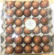 Organic Local Brown Eggs, Ripe 30pcs