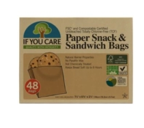 IF YOU CARE PAPER SNACKS & SANDWICH BAGS