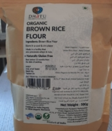 Rootz Organic Brown Rice Flour Stone Ground 500G