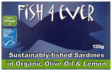 Sardines in Organic Olive Oil and Lemon, Fish 4 Ever