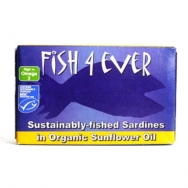 Sardines In Sunflower Oil, Fish4Ever