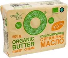 Butter Sweet Cream 200g, Organic Milk