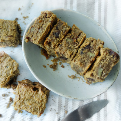 Sticky Date and Pecan Flapjacks