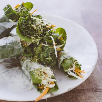 Summer Kale Rolls